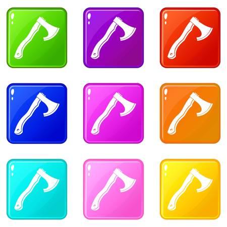 hatchet: Hatchet icons 9 set