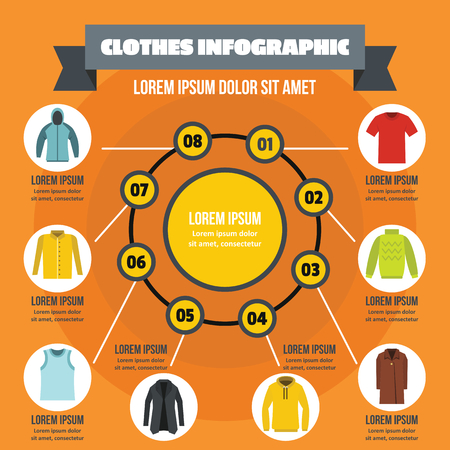 Clothes infographic concept, flat style