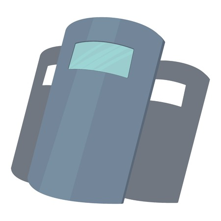 Police shields icon, cartoon style