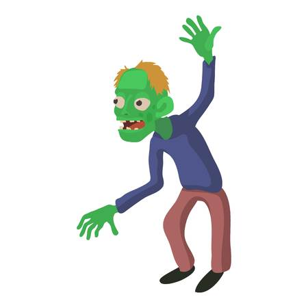Dancing zombie icon, cartoon style illustration. Illustration