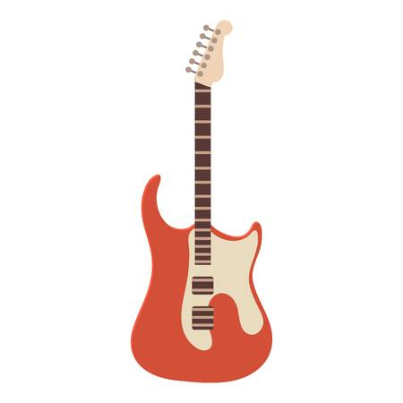hard: Classic rock guitar icon, cartoon style illustration.