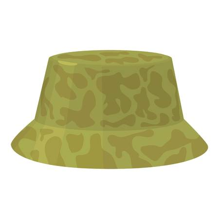 hard: Camp hat icon, cartoon style illustration.