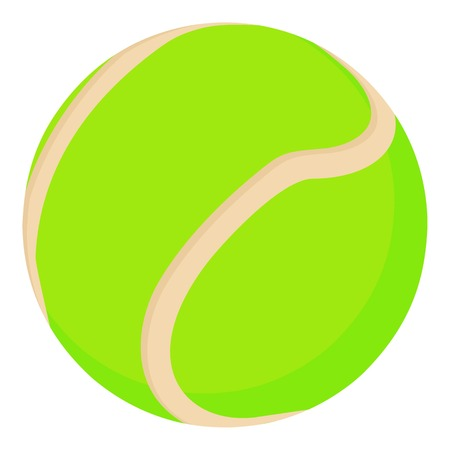 Tennis ball icon, cartoon style illustration. Illustration
