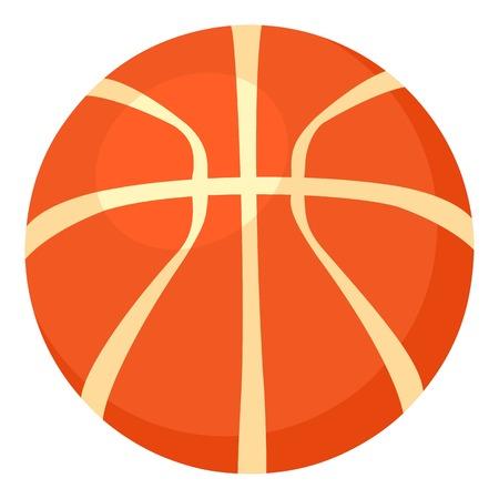 Basketball ball icon, cartoon style illustration. Illustration