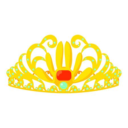 Crown icon, cartoon style