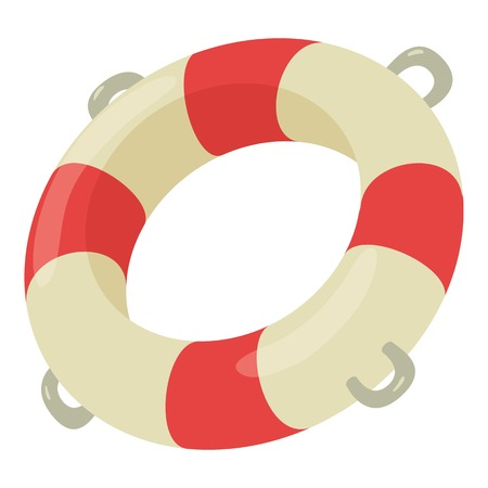 Lifebuoy icon, cartoon style
