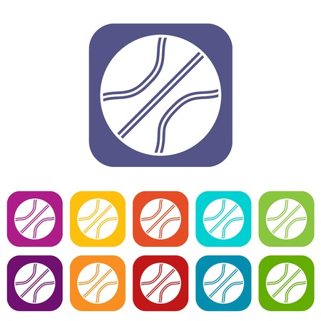 Basketball ball icons set illustration. 向量圖像