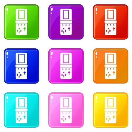 tetris: Tetris icons 9 set Illustration