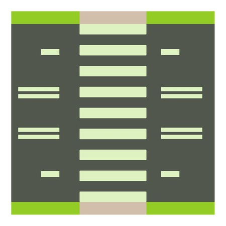 car speed: Road with pedestrian zone icon. Cartoon illustration of road with pedestrian zone vector icon for web Illustration