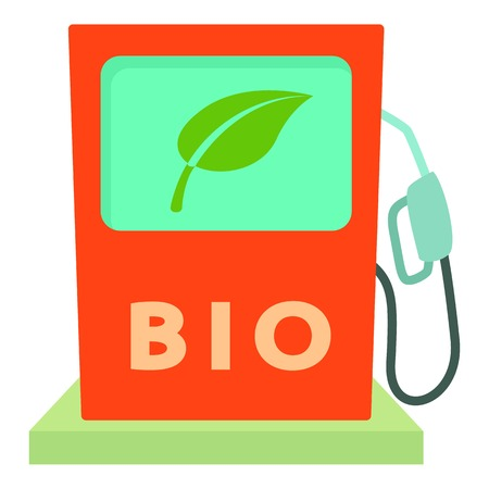 Biofuel icon. Cartoon illustration of biofuel vector icon for web Illustration