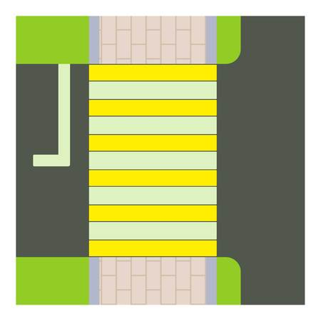 car speed: Crosswalk icon. Cartoon illustration of crosswalk vector icon for web