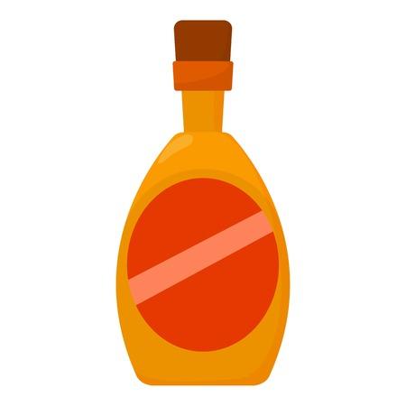 bourbon: Wine icon, cartoon style