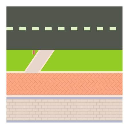 Sidewalk icon, cartoon style