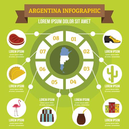 Argentinien Infographik Konzept, flachen Stil