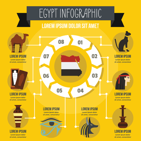 Egypt infographic concept, flat style