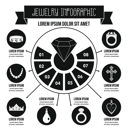 Jewelry infographic concept, simple style