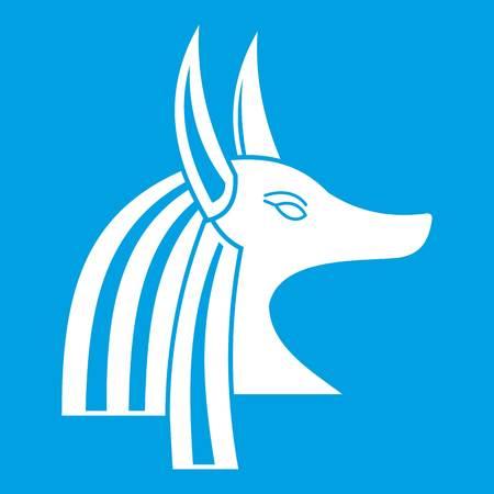 Ancient egyptian god Anubis icon white