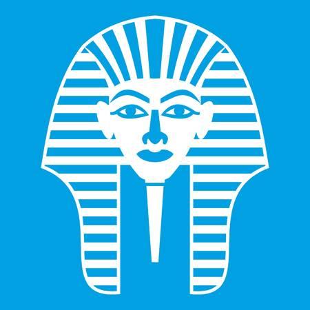 Tutankhamen mask icon white