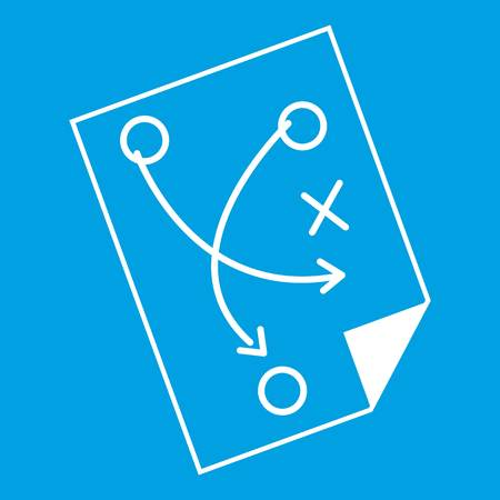 Soccer strategy icon white Illustration