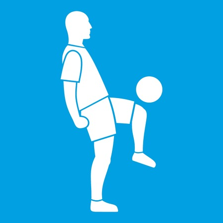 Soccer player man icon white
