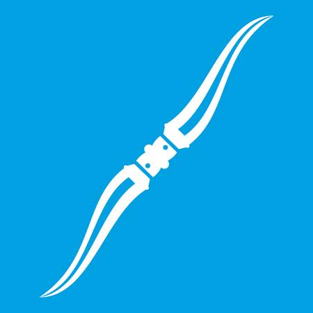 Throwing ninja knife icon white