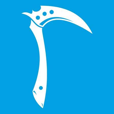 kama: Kama weapon icon white Illustration