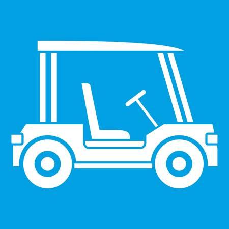 Golf club vehicle icon white