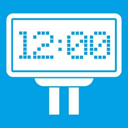 Scoreboard icon white isolated on blue background Illusztráció