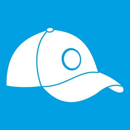 White illustration of Cap icon