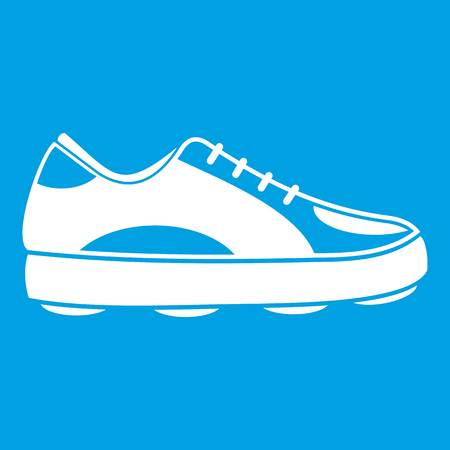 Golf shoe icon white Illustration