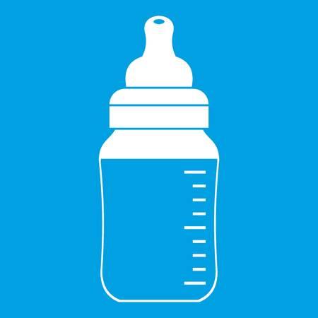 Baby milk bottle icon white
