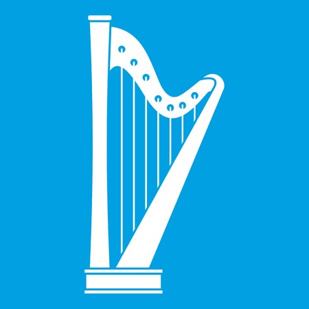 clovers: Harp icon white Illustration