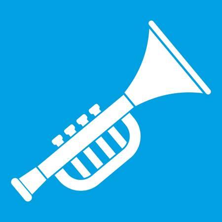 Trumpet toy icon white