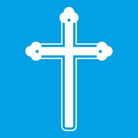 Holy cross icon white