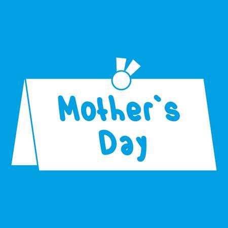 Mother Day postcard icon white