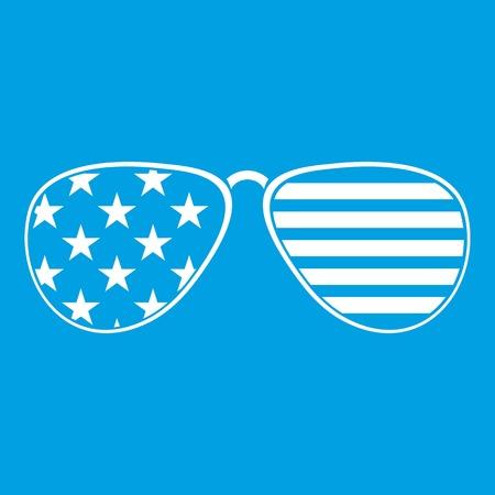 American glasses icon white