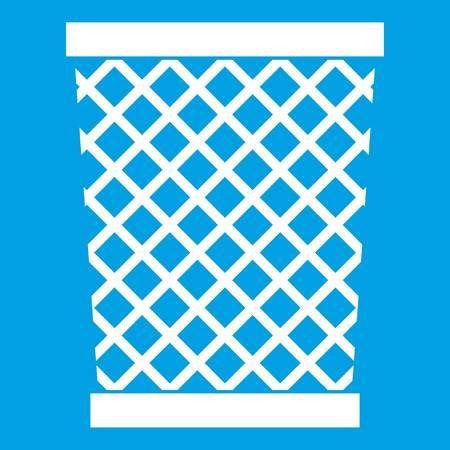 Wastepaper basket icon white