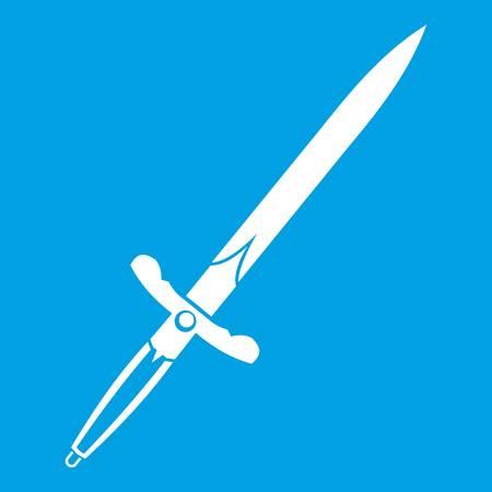 Sword icon white Illustration