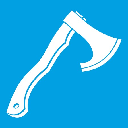 hatchet: Hatchet icon white Illustration
