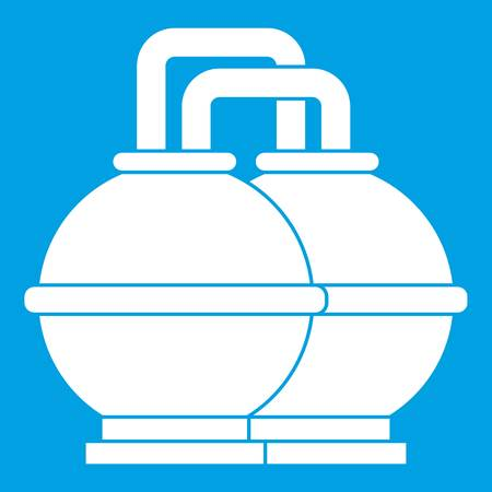Industrial tanks for petrol and oil icon white Illustration
