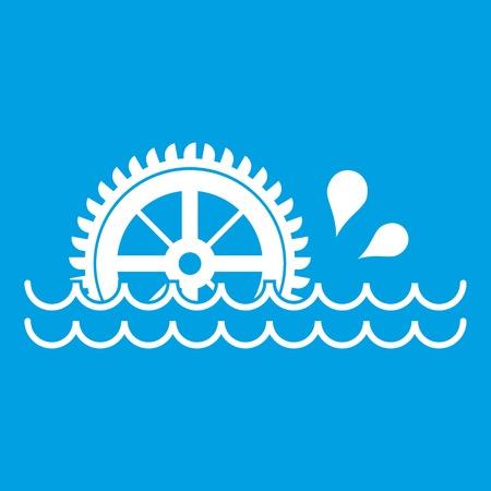 watermill: Waterwheel icon white