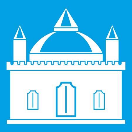 Royal castle icon white