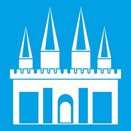 Kingdom palace icon white Illustration