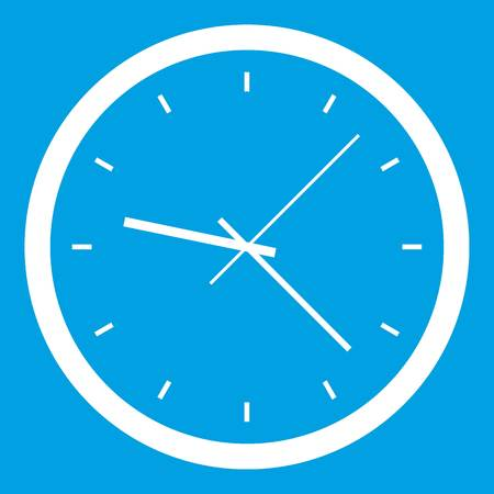 Wall clock icon white