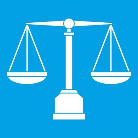 Justice scale icon white