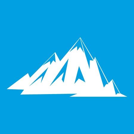 Canadian mountains icon white