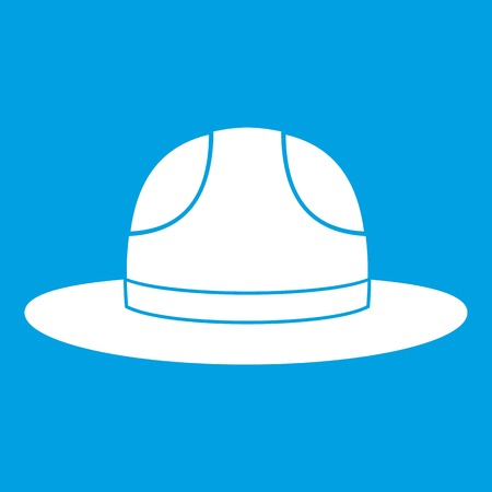 relay: Canadian hat icon white Illustration