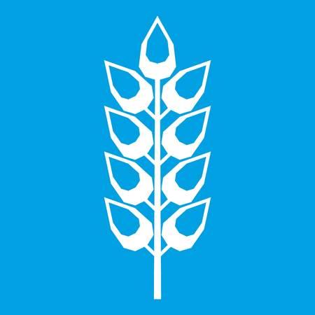 grain: Long spica icon white Illustration