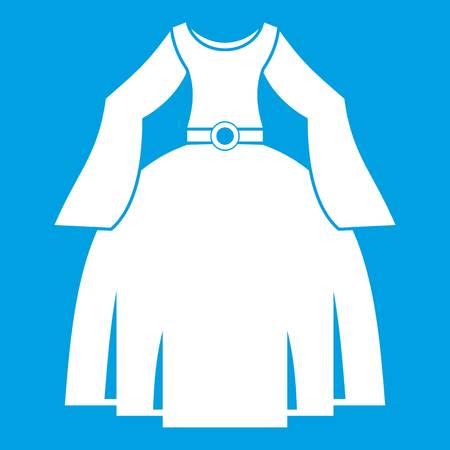 Princess dress icon white