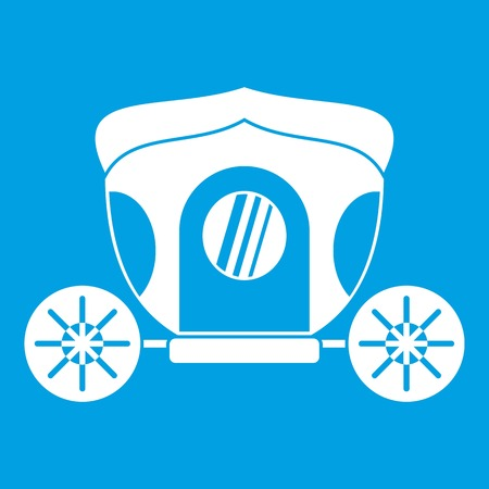 Brougham icon white Illustration